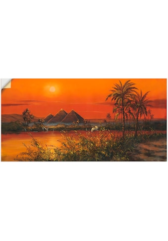 Artland Wandbild »Pyramiden«, Afrika, (1 St.), in vielen Größen & Produktarten -... kaufen