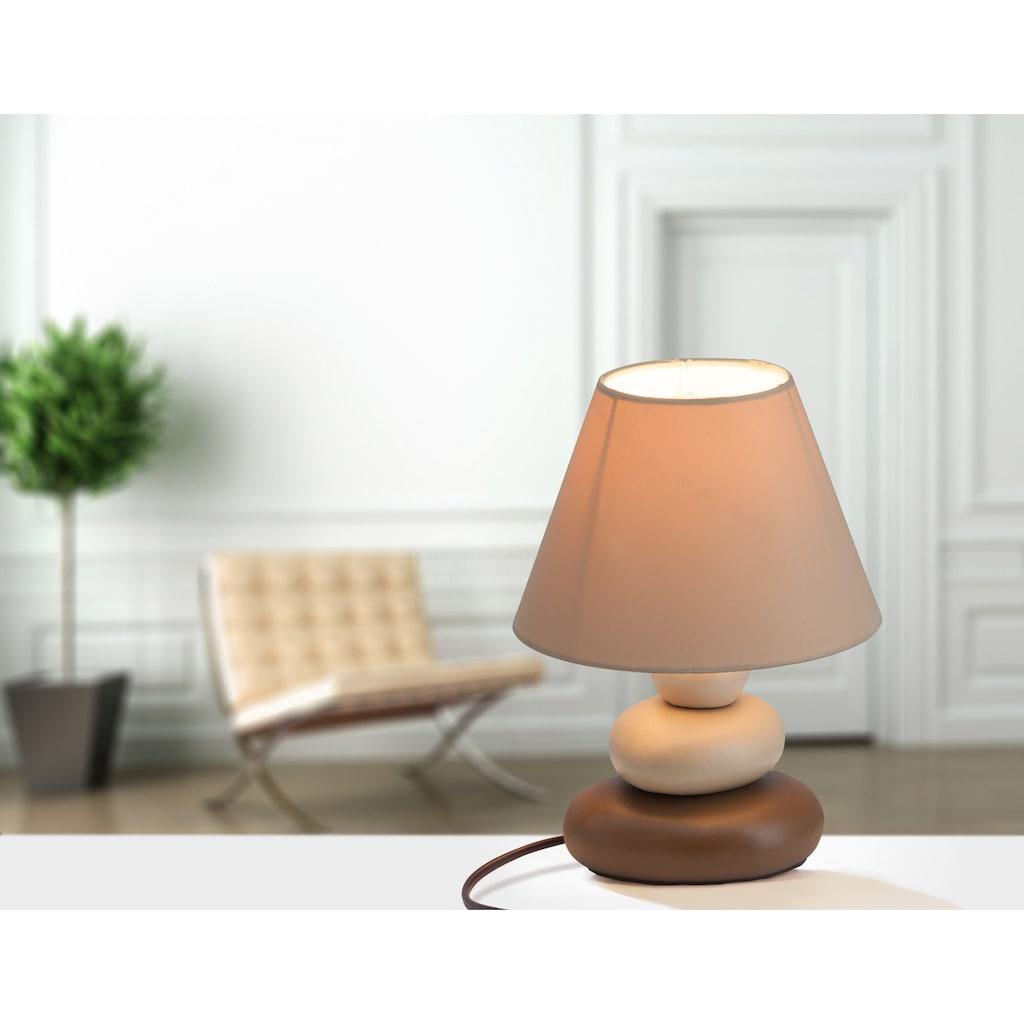Brilliant Leuchten Paolo Tischleuchte braun
