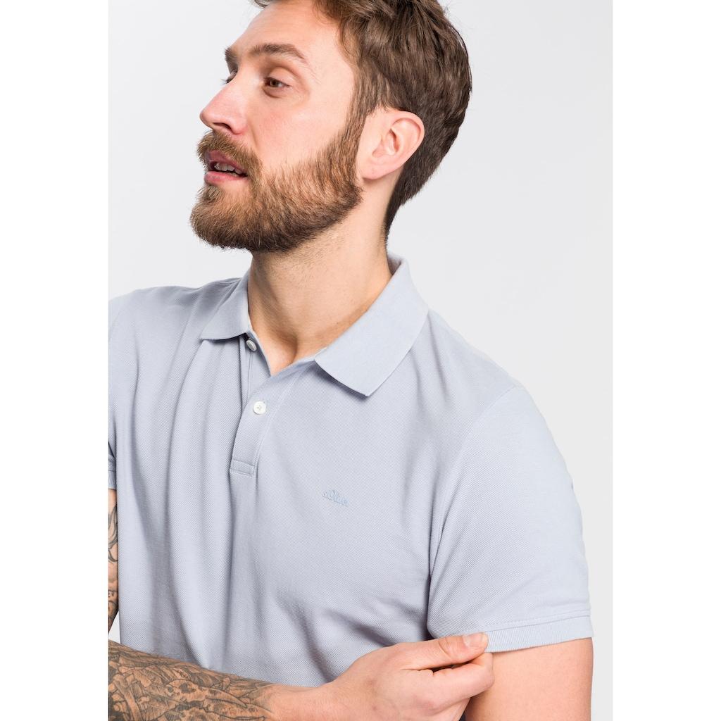 s.Oliver Poloshirt, mit Logostickerei
