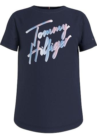 Tommy Hilfiger T-Shirt »SCRIPT PRINT TEE S/S«, mit mehrfarbigem Logo-Schriftzug kaufen