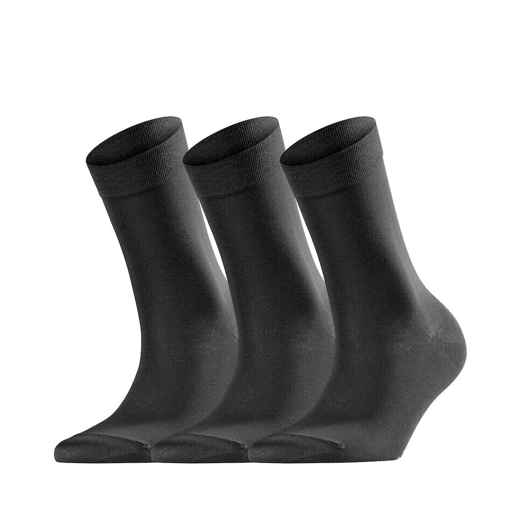 FALKE Socken »Cotton Touch 3-Pack«, (3 Paar), mit sehr feinem Maschenbild