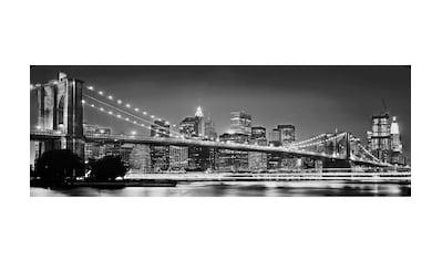 Komar Fototapete »Brooklyn Bridge«, bedruckt-Stadt-Kunst, ausgezeichnet lichtbeständig kaufen