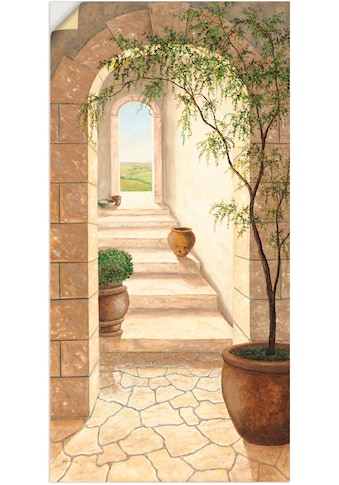 Artland Wandbild »Toskanischer Durchgang«, Fenster & Türen, (1 St.), in vielen Größen... kaufen