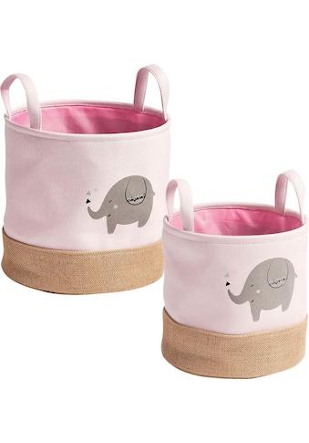 Zeller Present Aufbewahrungskorb »Elefant«, (Set, 2 St.) kaufen
