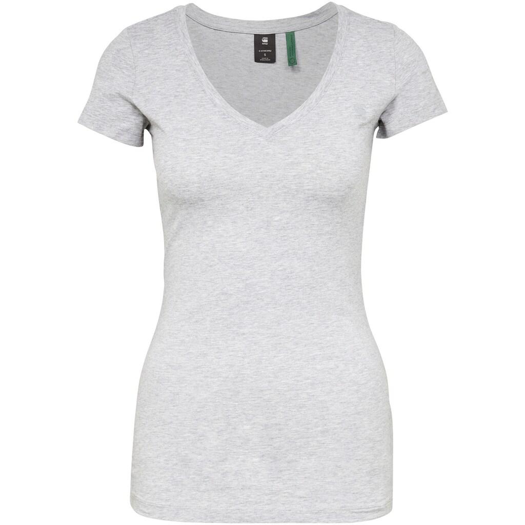 G-Star RAW T-Shirt »Base V Top«, mit weichen, atmungsaktiven Jersey im Bio-Baumwollmix