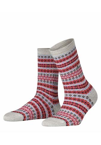 Burlington Socken »Country Fair Isle«, (1 Paar), mit Schurwolle kaufen