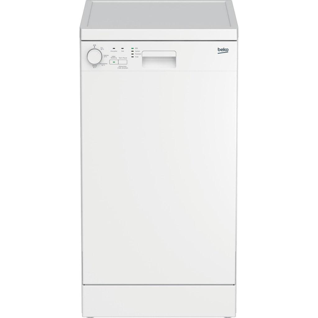 BEKO Standgeschirrspüler »DFS04011W«, DFS04011W, 10 Maßgedecke, mit Intensiv 70°C