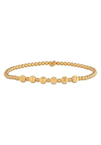 CAÏ Armband »925/- Sterling Silber vergoldet LOVE« kaufen