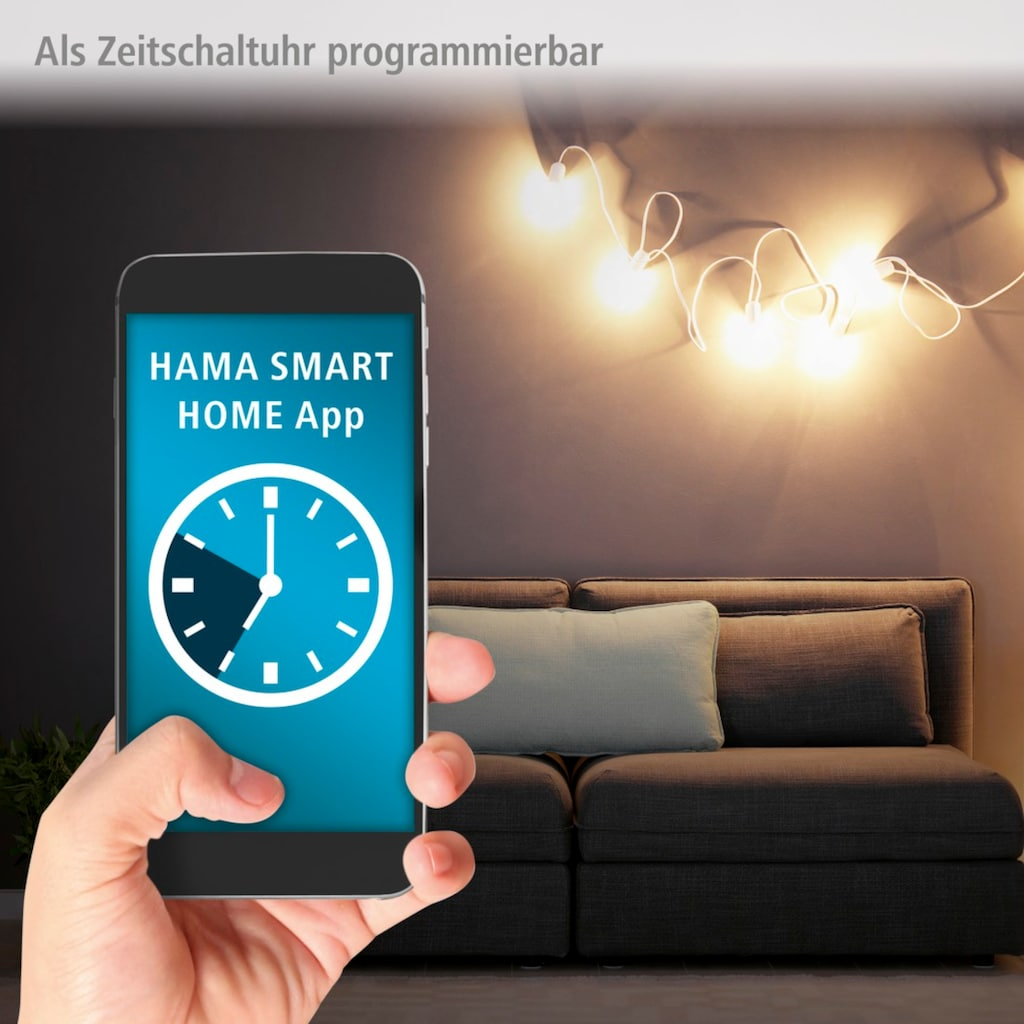 Hama Smarte Steckdose »Überlastschutz, ohne Hub«, 4-fach, schaltbar, USB 4-fach, 10A