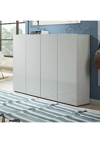 KITALY Schuhschrank »Mister«, Breite 160 cm, 4 Türen, Hochglanz Lackierung kaufen