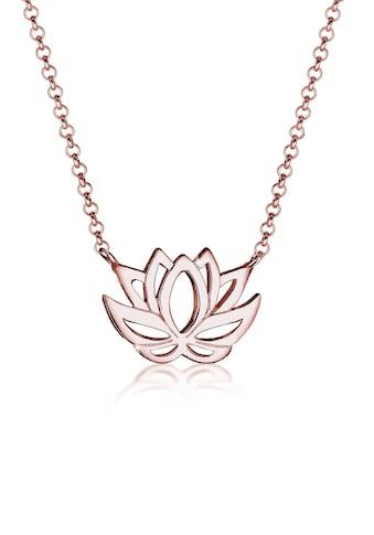 Elli Collierkettchen »mit Lotusblume Blüte Glücksbringer 925 Silber« kaufen
