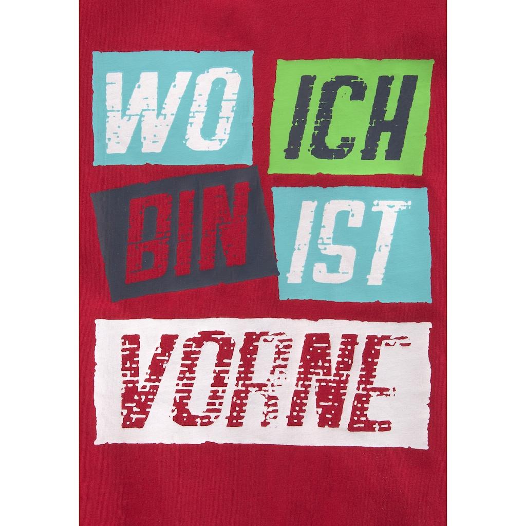 KIDSWORLD T-Shirt »WO ICH BIN IST VORNE«