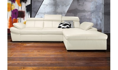 exxpo - sofa fashion Ecksofa, inklusive Kopfteil- und Armteilverstellung, wahlweise mit Bettfunktion kaufen