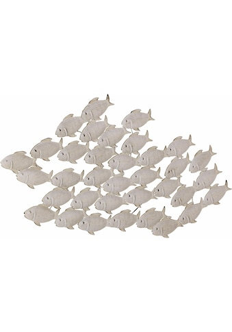 Home affaire Wanddekoobjekt »Fischschwarm«, Wanddeko, aus Metall, maritim kaufen