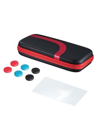 Hama Set (Tasche, Schutzglas, Control - Aufsätze) für Nintendo »Switch, Schwarz/Rot« kaufen