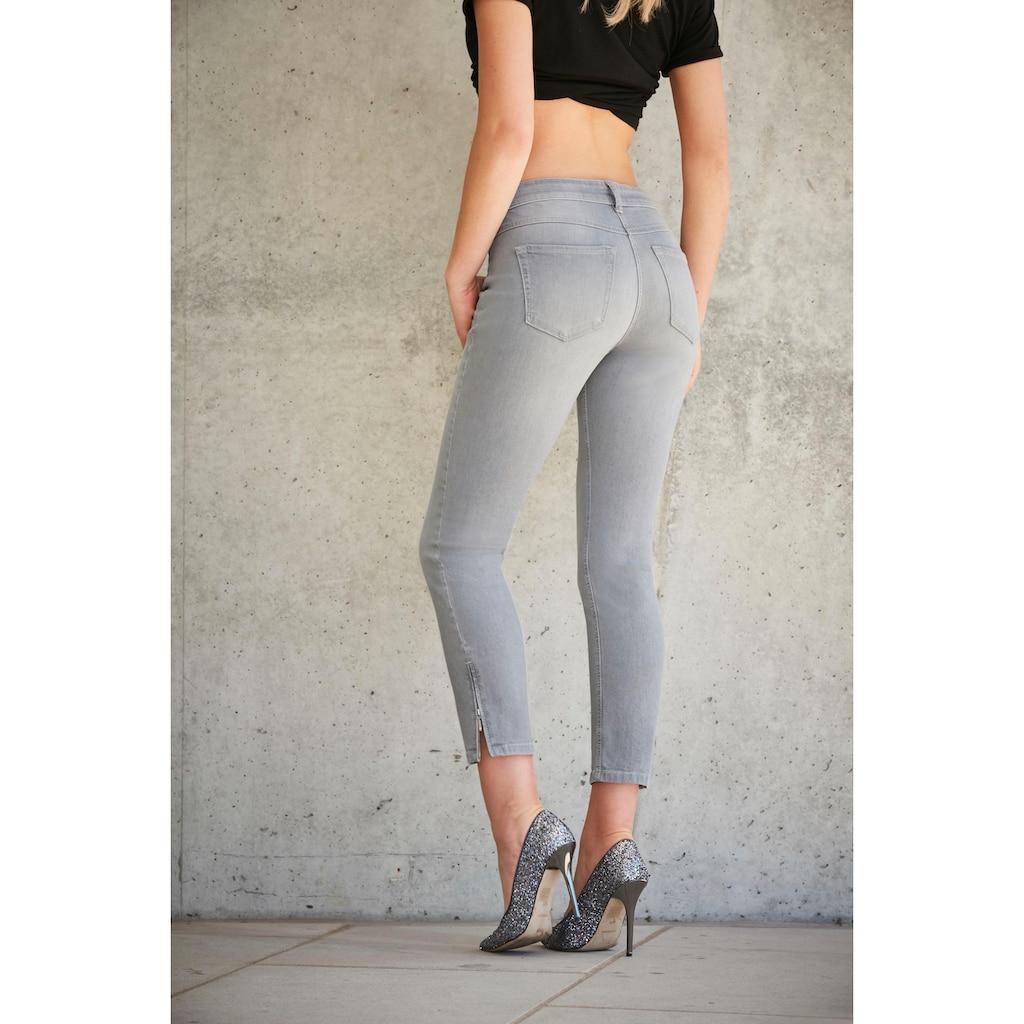MAC Ankle-Jeans »Slim Chic«, Neue Form mit Reißverschluss am Saum