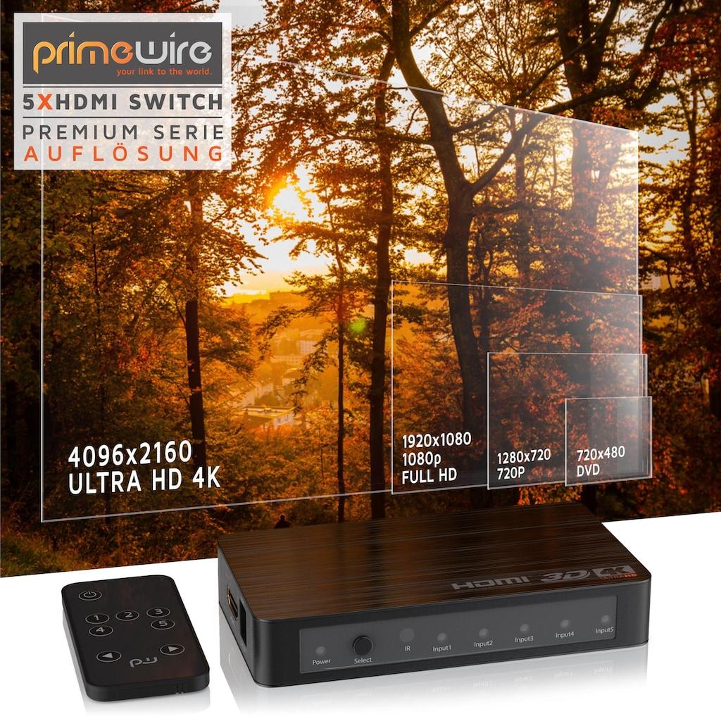 Primewire Ultra HD 4k 5-Port HDMI Umschalter inkl. Fernbedienung »5x HDMI IN / 1x HDMI OUT«