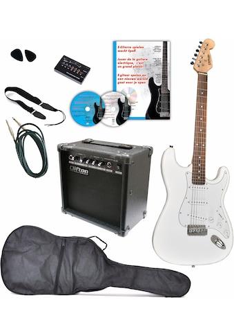 """Clifton E - Gitarre """"E - Gitarren Set, 10 teilig"""" kaufen"""