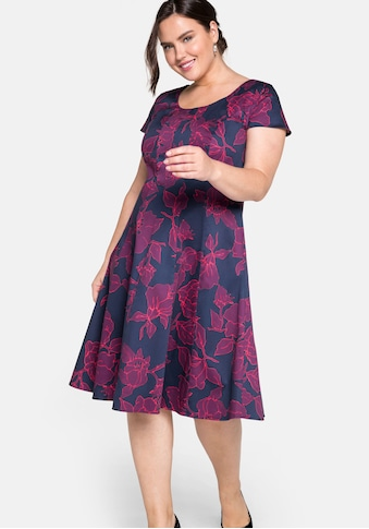 Sheego Cocktailkleid, mit floralem Alloverprint kaufen