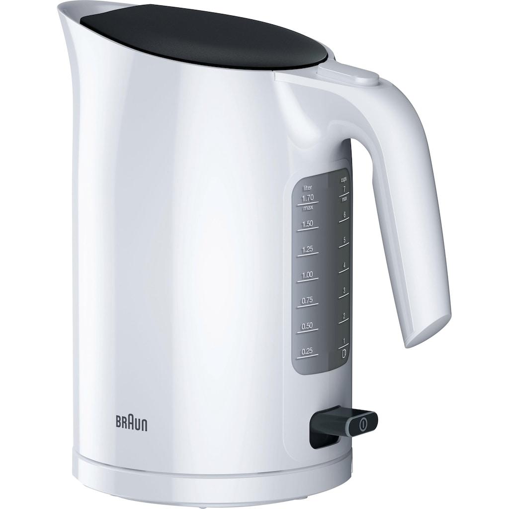 Braun Wasserkocher »WK 3110 WH«, 1,7 l, 3000 W