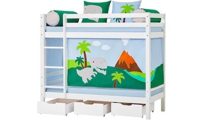 Hoppekids Etagenbett »Dinosaurier«, inkl. Vorhang-Set, Matratzen und Rollroste kaufen