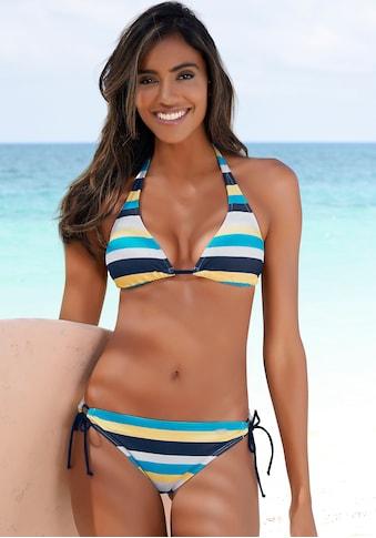 Venice Beach Triangel-Bikini, mit Blockstreifen kaufen