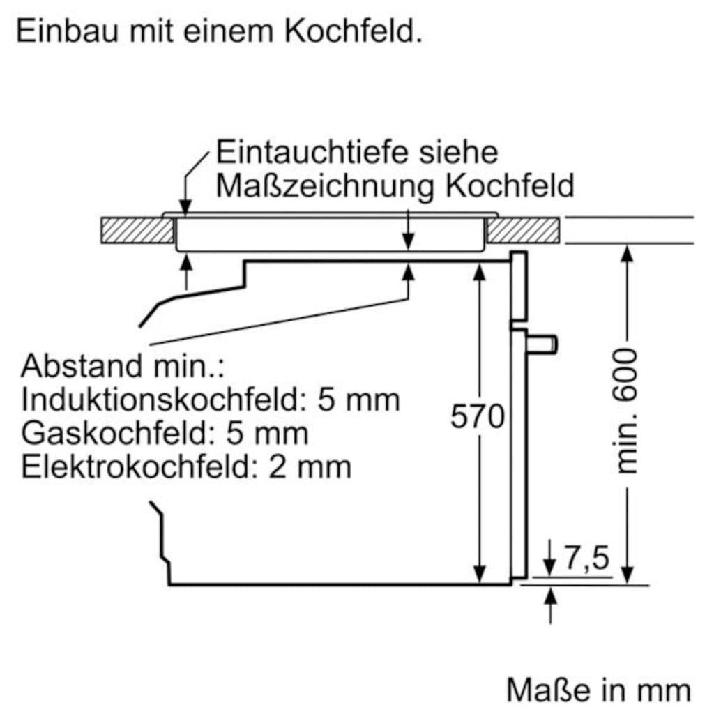 SIEMENS Elektro-Herd-Set »EQ521KS0V«, mit 3D-Heißluft Plus