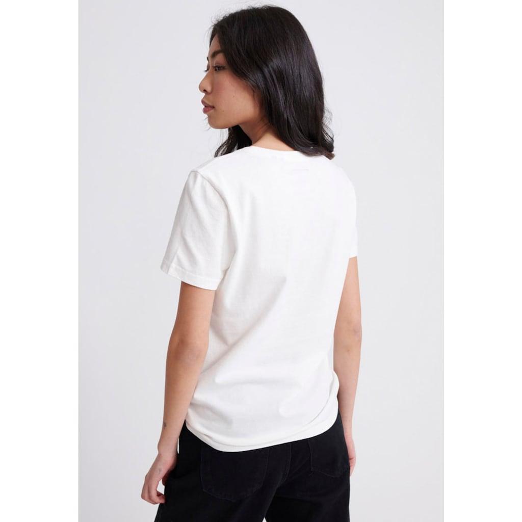Superdry T-Shirt »VL REFLECTIVE BOX ENTRY TEE«, mit Logo im Animalprint