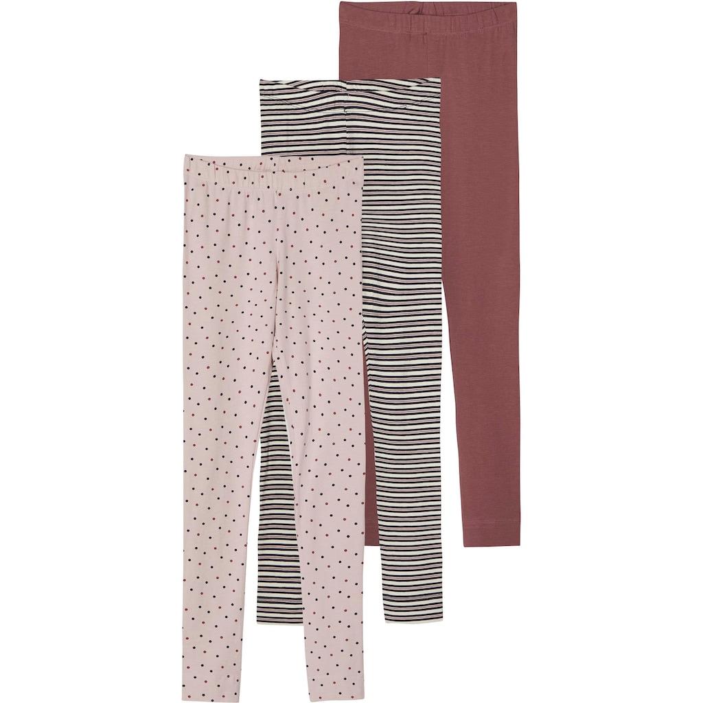 Name It Leggings, (Packung, 3 tlg.), mit verschiedenen Mustern