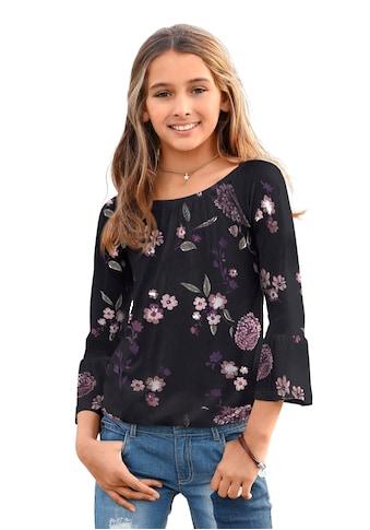 KIDSWORLD 3/4-Arm-Shirt, mit großem elstischen Halsausschnitt kaufen