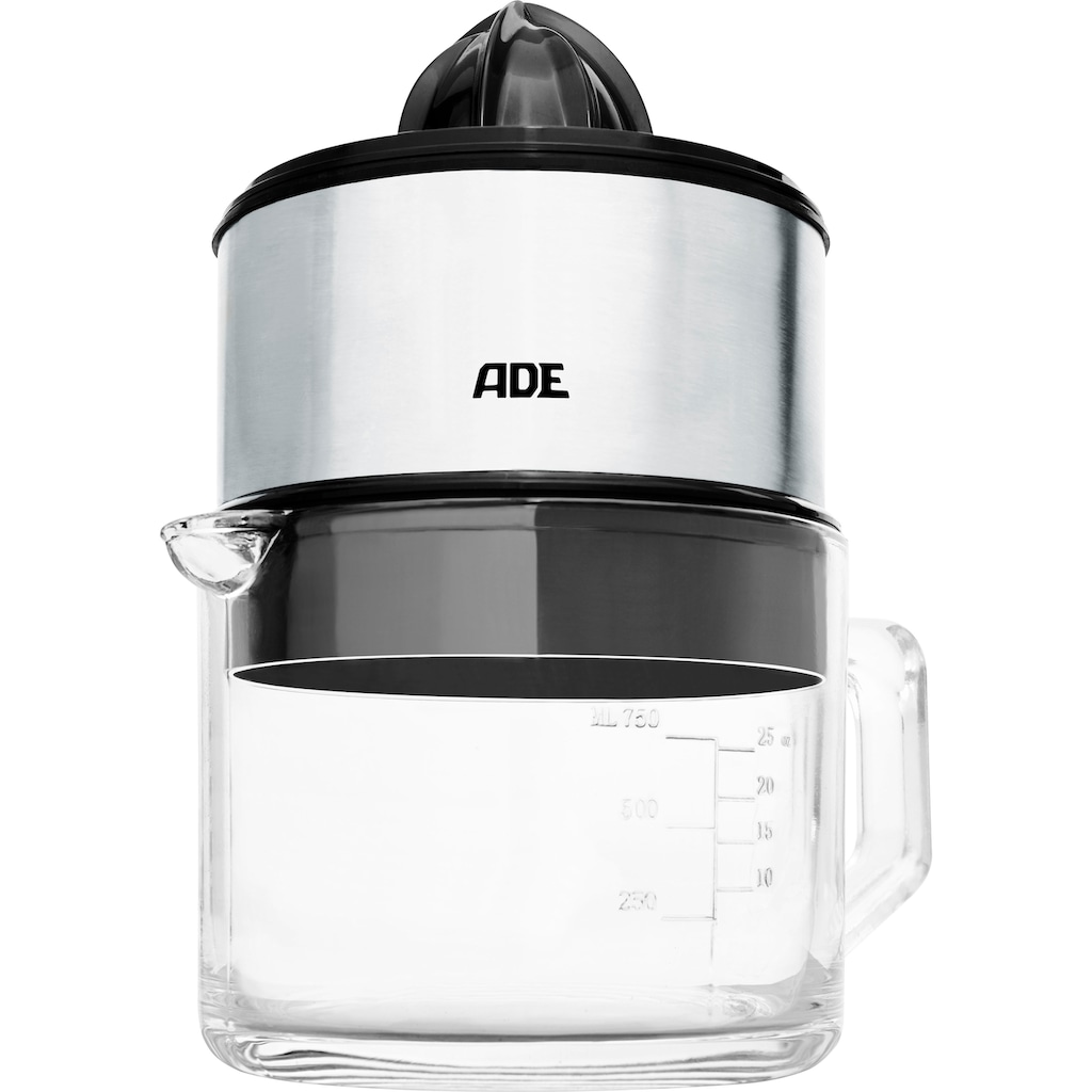 ADE Zitruspresse »KA1803«, 60 W, Elektrische Saftpresse mit dickwandiger 1L-Glaskaraffe, Start/Stop