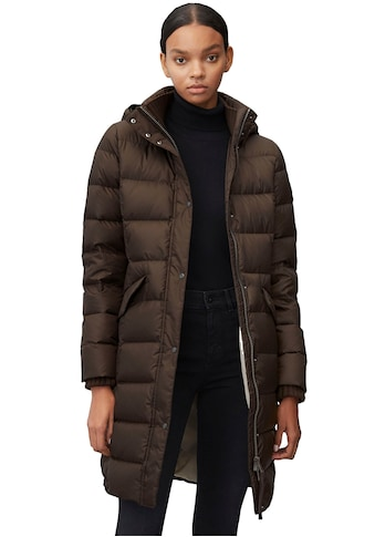 Marc O'Polo Daunenmantel, mit abnehmbarer Kapuze und Fake Fur-Besatz kaufen