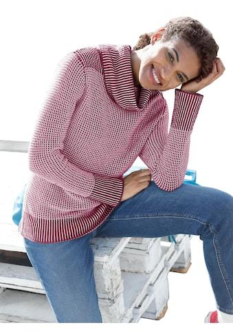 Casual Looks Pullover im hübschschen Strickmuster - Mix kaufen