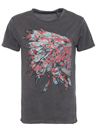 Way of Glory T-Shirt, mit 3D Druck, oil washed kaufen