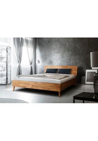 Home affaire Massivholzbett »Scandi«, aus massivem Eichenholz, mit Holzfüßen, in zwei... kaufen