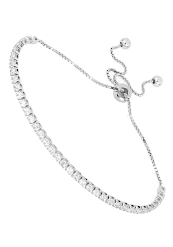 Firetti Tennisarmband »schlicht und mit eingefasstem Zwischenelement, hochglanzpoliert, rhodiniert«, mit Zirkonia kaufen
