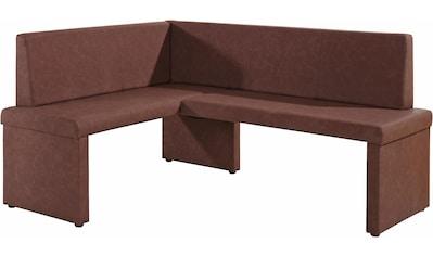 Homexperts Eckbank »Mulan«, langer Schenkel 165 cm, wahlweise rechts oder links, Bezug... kaufen