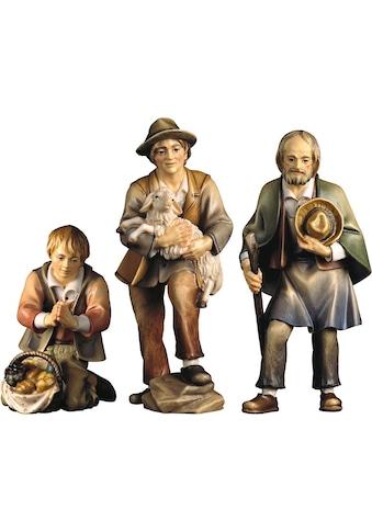 ULPE WOODART Krippenfigur »Drei Hirten«, Handarbeit, hochwertige Holzschnitzkunst kaufen