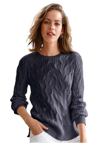 Looxent Strickpullover »aus 100% Supima®-Baumwolle«, Schlitz kaufen