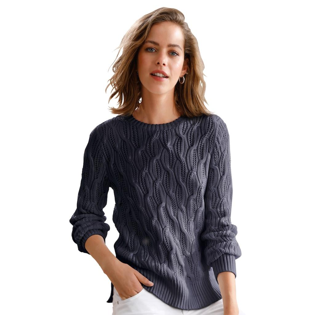 Looxent Strickpullover »aus 100% Supima®-Baumwolle«, Schlitz