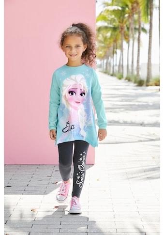 Disney Frozen Langarmshirt & Leggings »Elsa«, mit Eiskönigin Motiv und Glitzerdetails kaufen