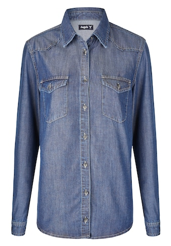 ANGELS Hemd ,Casual Shirt' in Jeansoptik kaufen