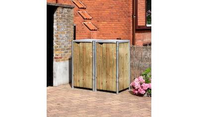 Hide Mülltonnenbox, für 2 x 120 l, natur kaufen