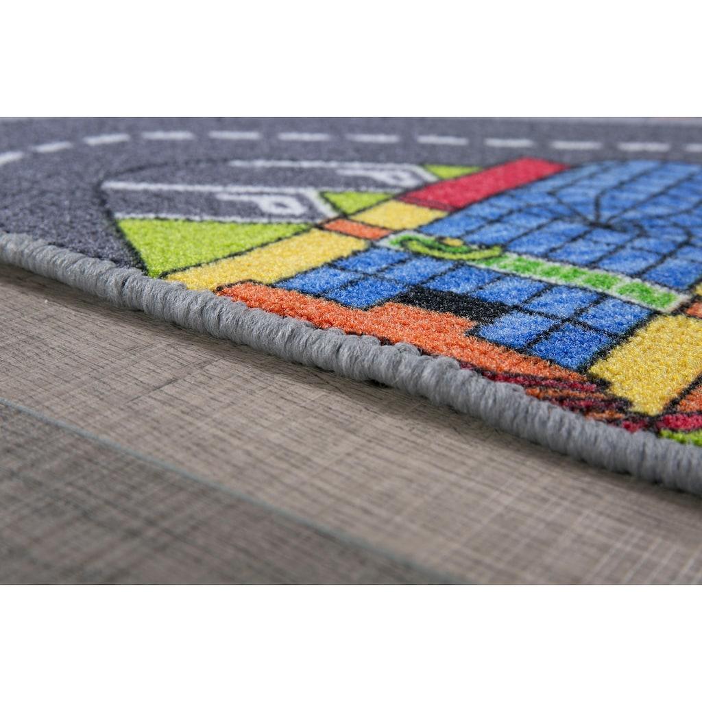Andiamo Kinderteppich »Big City«, rechteckig, 7 mm Höhe, Straßen-Spielteppich, Straßenbreite: 8,5 cm, Kinderzimmer