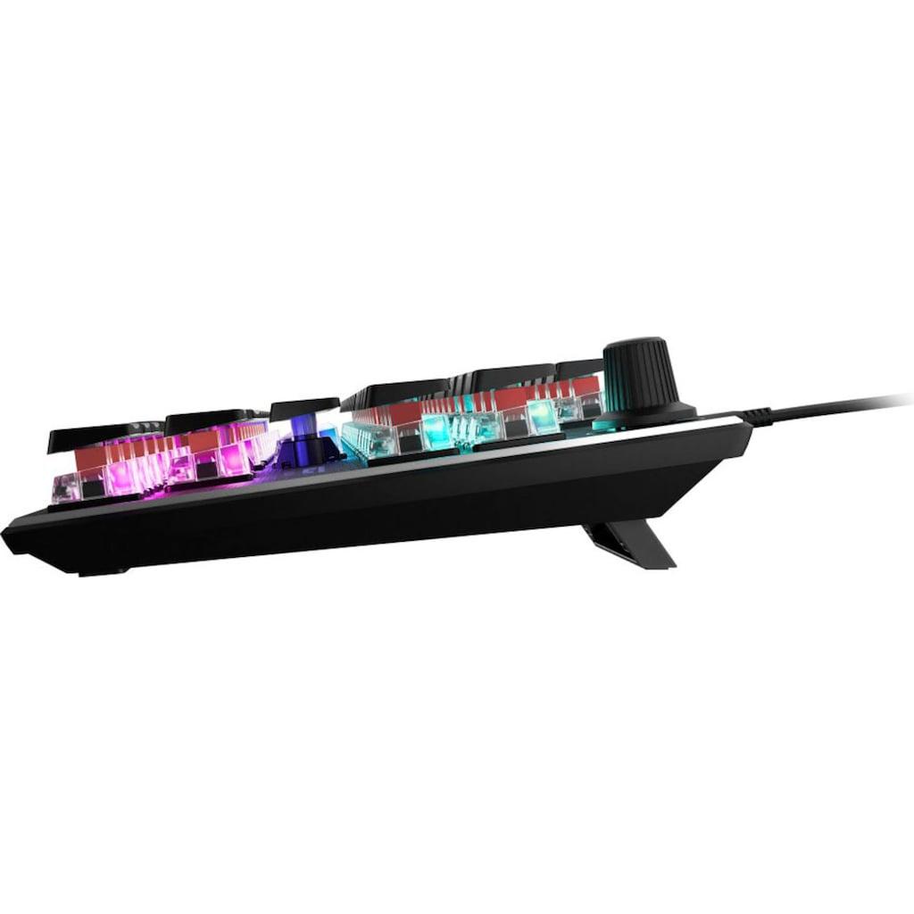 ROCCAT Gaming-Tastatur »Vulcan TKL - Kompakte Mechanische RGB Gaming Tastatur«, (USB-Anschluss-Lautstärkeregler-Fn-Tasten-Antirutsch-Füße)