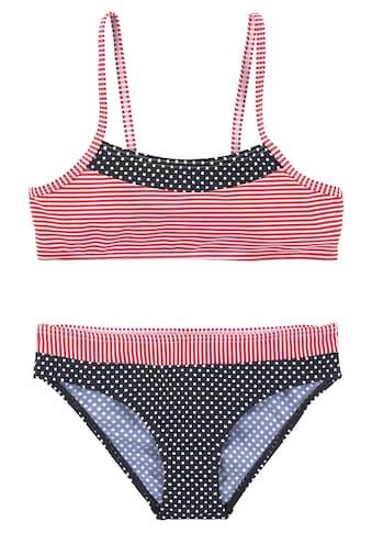 s.Oliver Beachwear Bustier-Bikini, Im Streifen und Punkte Mix kaufen