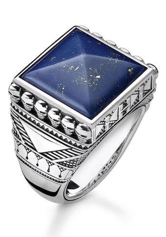 THOMAS SABO Silberring »TR2206-531-1-60, 62, 64, 66, 68, Ethno Totenköpfe blau«, mit Lapislazuli kaufen