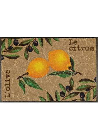 wash+dry by Kleen-Tex Fußmatte »Le Citron«, rechteckig, 7 mm Höhe, Fussabstreifer,... kaufen