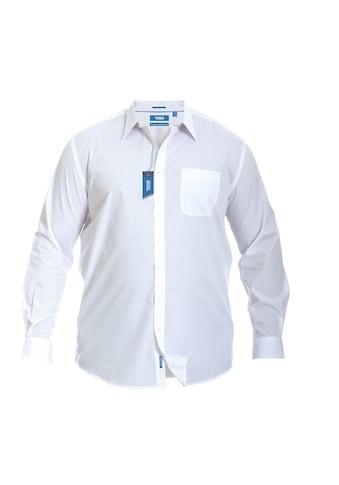 Duke Clothing Langarmhemd »Herren Aiden Kingsize, regulärer Schnitt« kaufen