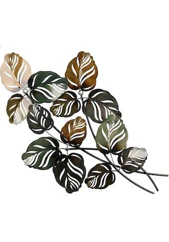 GILDE Wanddekoobjekt »Wandrelief Branch grün/braun«, Wanddeko, Höhe 67cm, aus Metall,... kaufen